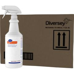 Diversey Foaming Acid Restroom Cleaner - Ready-To-Use Spray - Fresh ScentBottle - 12 / Carton - Red