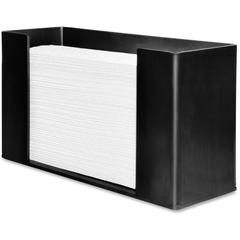 "Genuine Joe Folded Paper Towel Dispenser - C Fold, Multifold Dispenser - 6.8"" Height x 11.5"" Width x 4.1"" Depth - Black - Wall Mountable"