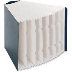 Smead Corner Organizer File - 7 Pocket(s) - Counter - Recycled - Dark Blue - 1Each