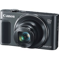"Canon PowerShot SX620 HS 20.2 Megapixel Compact Camera - Black - 3"" LCD - 16:9 - 25x Optical Zoom - 4x - Optical (IS) - TTL - 5184 x 3888 Image - 1920 x 1080 Video - HDMI - PictBridge - HD Movie Mode"