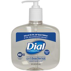 Dial Sensitive Skin Antimicrobial Liquid Soap - 16 fl oz (473.2 mL) - Kill Germs - Skin, Hand - Clear - Anti-bacterial, Antimicrobial - 1 Each