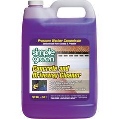 Simple Green Concrete/Driveway Cleaner Concentrate - Concentrate Liquid - 1 gal (128 fl oz) - 4 / Carton - Purple