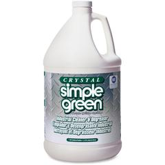 Simple Green Crystal Industrial Cleaner/Degreaser - Concentrate Liquid - 1 gal (128 fl oz) - 6 / Carton - Clear