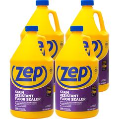Zep Commercial Stain Resistant Floor Sealer - 1 gal (128 fl oz) - 4 / Carton - Blue