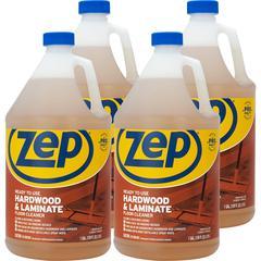 Zep Commercial Hardwood/Laminate Floor Cleaner - Liquid - 1 gal (128 fl oz) - 4 / Carton - Blue