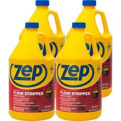 Zep Commercial Heavy-Duty Floor Stripper Concentrate - Concentrate Liquid - 1 gal (128 fl oz) - 4 / Carton - Blue