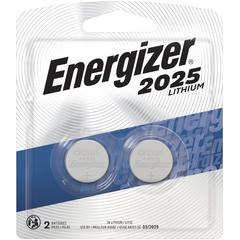 Energizer 2025 3V Watch/Electronic Batteries - CR2025 - Lithium (Li) - 3 V DC - 240 / Carton