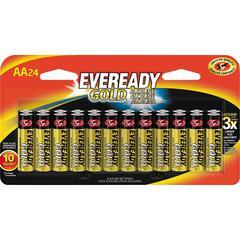 Eveready Gold Alkaline AA Batteries - AA - Alkaline - 264 / Carton