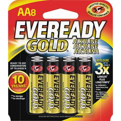 Eveready Gold 8-pack AA Batteries - AA - Alkaline - 192 / Carton