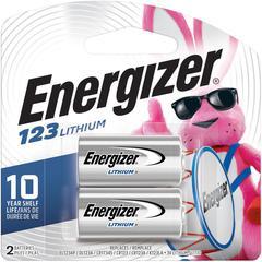 Energizer Lithium 123 3-Volt Battery - CR123A - Lithium (Li) - 3 V DC - 48 / Carton