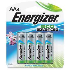 Energizer EcoAdvanced AA Batteries - AA - Alkaline - 96 / Carton