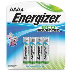 Energizer EcoAdvanced AAA Batteries - AAA - Alkaline - 96 / Carton