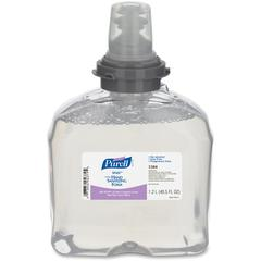 Purell TFX Dspnsr Refill Hand Sanitizing Foam - 40.6 fl oz (1200 mL) - Kill Germs - Hand - Clear - Dye-free, Fragrance-free, Anti-irritant, Alcohol-free - 2 / Carton