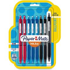 Paper Mate Inkjoy 300 RT Ballpoint Pens - 1 mm Pen Point Size - Assorted - Assorted Barrel - 8 / Pack