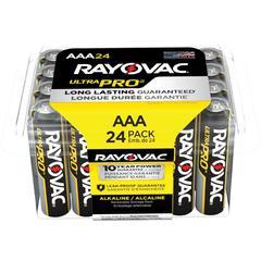 Rayovac Ultra Pro Alka AAA24 Batteries Storage Pak - AAA - Alkaline - 288 / Carton