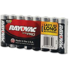 Rayovac Ultra Pro Alkaline AA Batteries - AA - Alkaline - 1.5 V DC - 96 / Carton