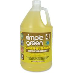 Simple Green Clean Bldg Carpet Cleaner Concentrate - Concentrate Liquid - 1 gal (128 fl oz) - 2 / Carton - Sand