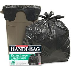 "Webster Handi-Bag Wastebasket Bags - 33 gal - 32"" Width x 40"" Length x 0.70 mil (18 Micron) Thickness - 240/Carton - 40 Per Box"
