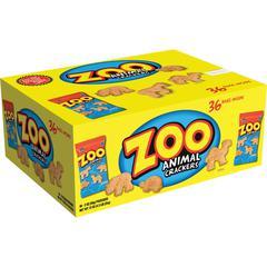 Austin&reg Zoo Animal Crackers - Individually Wrapped - 2 oz - 36 / Carton
