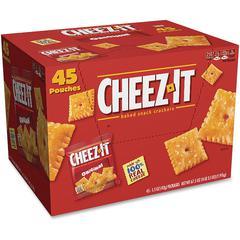 Cheez-It&reg Original Crackers - Low Fat - Cheese - Bag - 1 Serving Pouch - 1.50 oz - 45 / Carton