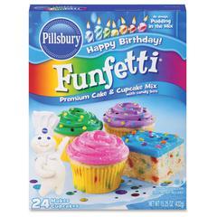 Pillsbury Folgers Happy Birthday Funfetti Cake Mix - Box - 24 Serving Cup - 15.25 oz - 1 Each
