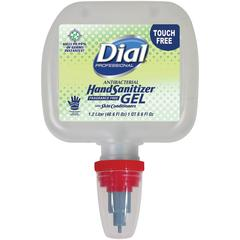 Dial Duo Dispenser Antibacterial Hand Sanitizer Gel - 40.6 fl oz (1200 mL) - Kill Germs - Hand - Clear - Anti-bacterial, Moisturizing - 3 / Carton