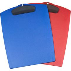 Storex Plastic Clipboard - Storage for 25 x Sheet - Plastic - Assorted Bright - 1 Each