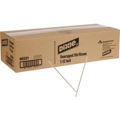 """Dixie 5-1/2"""" Stir Straws - 5.50"""" Length - Plastic - 10000 / Carton - White"""