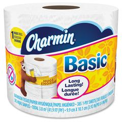 Basic Bathroom Tissue - 1 Ply - 385 Sheets/Roll - White - Soft, Clog-free, Durable, Tear Resistant, Strong, Unscented - 36 Rolls Per Carton - 13860 / Carton