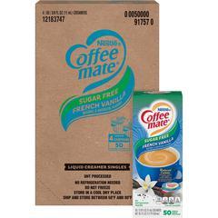 Nestlé® Coffee-mate® Coffee Creamer Sugar-Free French Vanilla - liquid creamer singles - French Vanilla Flavor - 0.38 fl oz (11 mL) - 200/Carton - 50 Per Box - 1 Serving