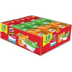 Pringles&reg Variety Pack - Original, Sour Cream, Cheddar Cheese - Tub - 1 - 18 / Box