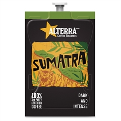 Mars Drinks Alterra Roasters Sumatra Coffee - Compatible with Flavia - Regular - Sumatra - Dark - 100 / Carton