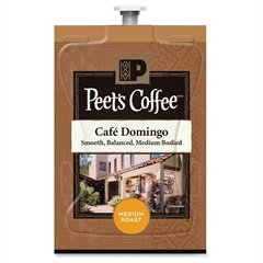 Peet's Coffee & Tea Mars Drinks Peet's Cafe Domingo Coffee - Compatible with Flavia - Regular - Cafe Domingo - Medium - 72 / Carton