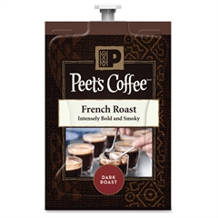 Peet's Coffee & Tea French Roast Coffee - Compatible with Flavia - Caffeinated - French Roast - Dark - 72 / Carton