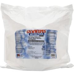 "2XL GymWipes Antibacterial Towelettes Bucket Refill - 6"" x 8"" - White - Alcohol-free, Bleach-free, Disposable, Absorbent, Anti-bacterial, Hygienic, Disinfectant, Phenol-free - For Toilet - 700 Sheet"
