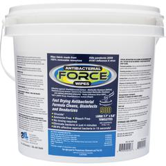 "2XL Antibacterial Force Wipes Dispensing Bucket - 6"" x 8"" - White - Anti-bacterial, Hygienic, Disinfectant, Soft, Durable, Non-abrasive, Non-toxic, Non-irritating, Eco-friendly, Disposable - For Toile"