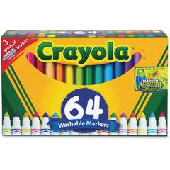 Crayola Washable Markers - Conical Point StyleGel-based Ink - 64 / Box