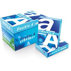"Double A Everyday Copy & Multipurpose Paper - Letter - 8 1/2"" x 11"" - 20 lb Basis Weight - 0 Recycled Content - Smooth - 96 Brightness - 10 / Carton - White"