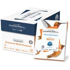 "Hammermill Premium Copy & Multipurpose Paper - Letter - 8.50"" x 11"" - 20 lb Basis Weight - Smooth - 97 Brightness - 200000 / Pallet - White"