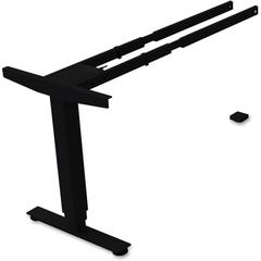 "Lorell Sit/Stand Desk Black Third-leg Add-on Kit - 275 lb Weight Capacity x 24"" Width x 44"" Depth x 26.5"" Height - Black"