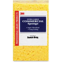Scotch-Brite -Brite Extra Large Commercial Sponge - 24/Carton - Cellulose - Yellow