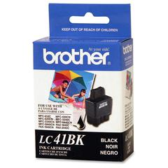 Brother LC41BK Ink Cartridge - Inkjet - 500 Page - 1 Each