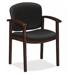 "HON Invitation Guest Chair - Polymer Seat - Hardwood Frame - Four-legged Base - Black - 20"" Seat Width x 17"" Seat Depth - 23.5"" Width x 22"" Depth x 33.1"" Height"
