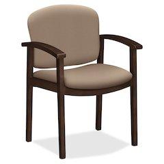 "HON Invitation Guest Chair - Polymer Seat - Hardwood Frame - Four-legged Base - Morel - 20"" Seat Width x 17"" Seat Depth - 23.5"" Width x 22"" Depth x 33.1"" Height"