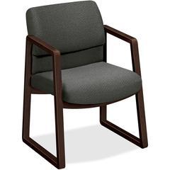 "HON 2400 Srs Mocha Hardwood Sled Base Guest Chair - Wood Gray, Plywood, Urethane Foam Seat - Urethane Foam Gray Back - Wood, Hardwood Frame - Sled Base - 20"" Seat Width x 20"" Seat Depth - 22.8"" Width"