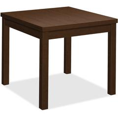 """HON Mocha Laminate Corner Table - 24"""" x 20"""" x 24"""", Edge, 24"""" x 24"""" Work Surface, Top - Square Edge - Material: Wood Grain Work Surface, Particleboard Top - Finish: Thermofused Laminate (TFL) Work Surf"""