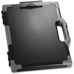 "OIC Clipboard Storage Box - Tablet, Notebook - 8 1/2"", 8 1/2"" x 11"", 14"" - Black, Gray - 1 Each"