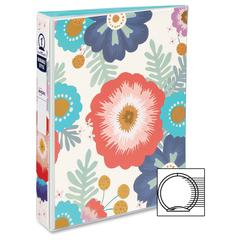 "Avery 5-1/2"" x 8-1/2"" Mini Durable Style Binders with Round Rings - 1"" Binder Capacity - 5 1/2"" x 8 1/2"" Sheet Size - 175 Sheet Capacity - 1 x Round Ring Fastener(s) - 2 Pocket(s) - 1 Each"