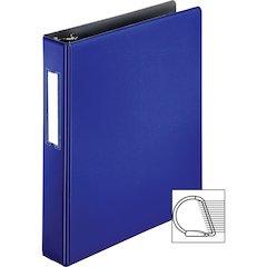 "Business Source 1.5"" D-Ring Binder - 1 1/2"" Binder Capacity - 375 Sheet Capacity - Slant D-Ring Fastener - Internal Pocket(s) - Blue - 1 Each"