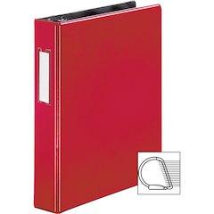 "Business Source 1.5"" D-Ring Binder - 1 1/2"" Binder Capacity - 375 Sheet Capacity - Slant D-Ring Fastener - Internal Pocket(s) - Red - 1 Each"